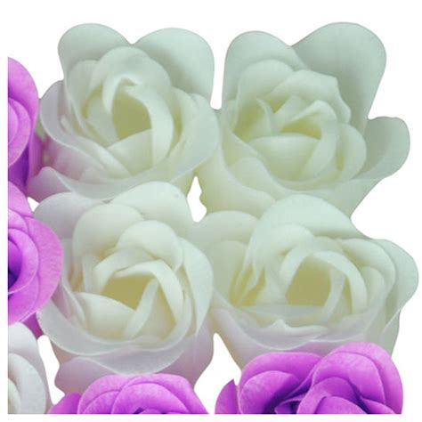 Scented Bath Soap Flower With For Gift 16pcs bath confetti fragrant scented soap flower gift purple ed ebay