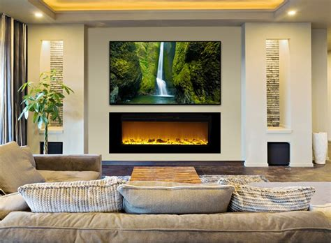 tv mounted fireplace 25 best electric fireplaces ideas on