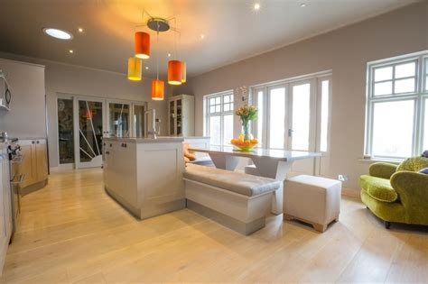 bespoke kitchen design ideas modern transitional stylish outlook curved bespoke kitchen by david glover