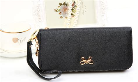 Terbaik Korean Travel Clutch Dompet Banyak Multifungsi Model Clutch dompet genggam korean bowknot purse clutches handbag black jakartanotebook