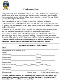 Fundraising Letter Pto Pledge Sheets Pto Today