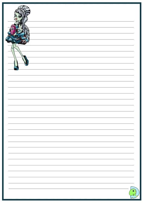 monster high handwriting paper dinokids org