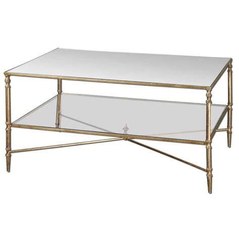 uttermost gold henzler coffee table on sale