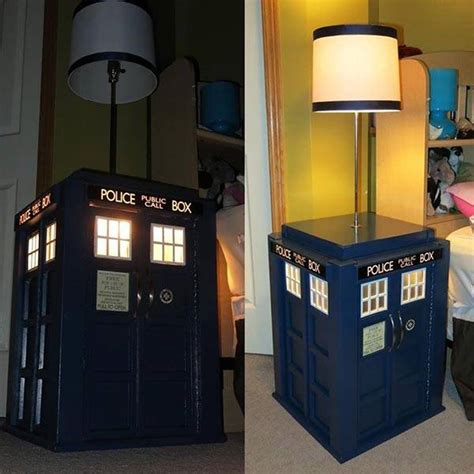 Make Your Own Bedside L by Build Your Own Tardis Bedside Table With Built In L