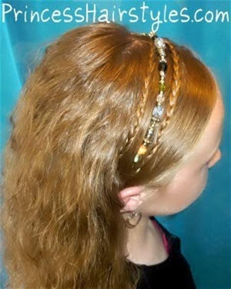 princess hairstyles braided headband with jewels double braided headband hairstyle hairstyles for girls