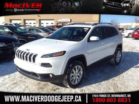 dodge jeep white 2015 white jeep limited newmarket ontario