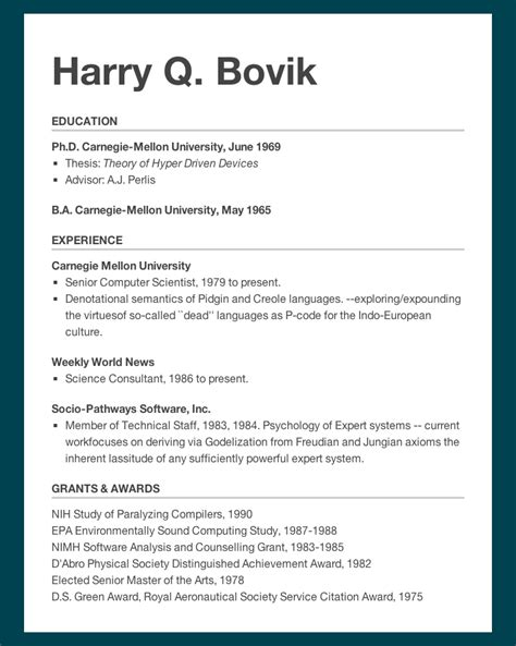 Resume Using Html Css 15 237 2013 Homework 2