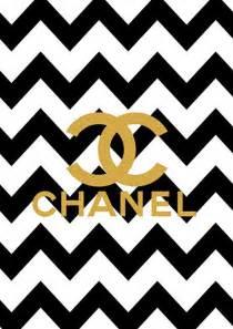 pattern logo chanel limited edition gold chanel logo black chevron print on