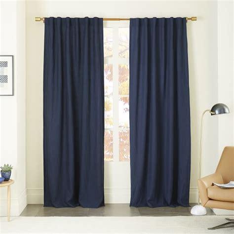 flax linen curtains belgian flax linen curtain midnight west elm