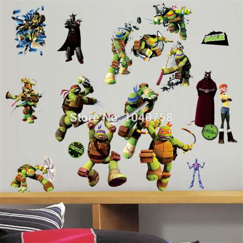 all wall stickers mutant turtles all in one peel and stick wall stickers for room wall