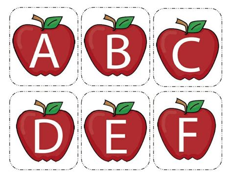printable alphabet matching cards apple alphabet cards
