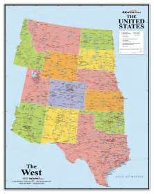 of west map western states wall map maps