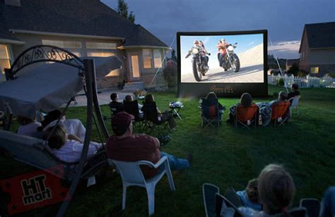16 ft backyard theater system home theater mart