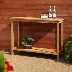 Outdoor Buffet Table by Signature Hardware 47 Quot Elkmont Teak Outdoor Buffet Table
