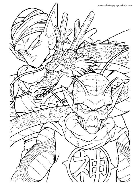 dragon ball z all characters coloring pages dragon ball z color page coloring pages for kids