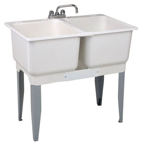 plastic kitchen sinks mustee 36 in x 34 in plastic laundry tub 22c the home