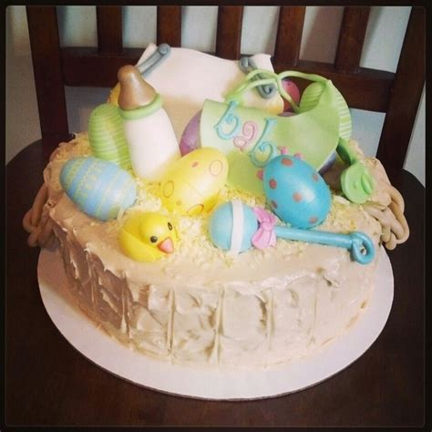 baby themed quot easter basket quot cake my quot baby cakes quot creations