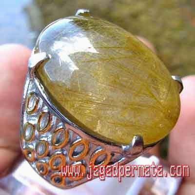 Batu Akik Kecubung Rambut Iga144 batu permata akik kecubung rambut emas batu akik