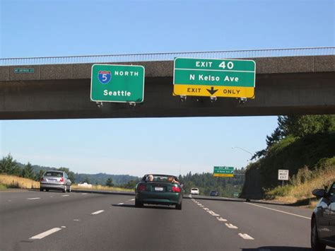 Interstate 5 North - Longview to Thurston County Line ... I 5 Exit 71 In Washington State