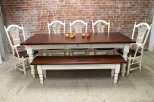 Classic farmhouse table with white base ecustomfinishes