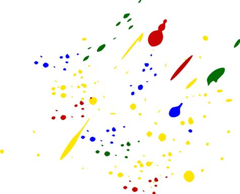 paint splatter colors clip at clker vector clip royalty free domain