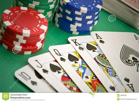 poker game royal flush royalty  stock images image