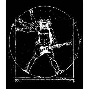 Da vinci guitar man tshirt