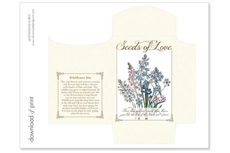 packet template card diy seed packet wedding favors the budget savvy