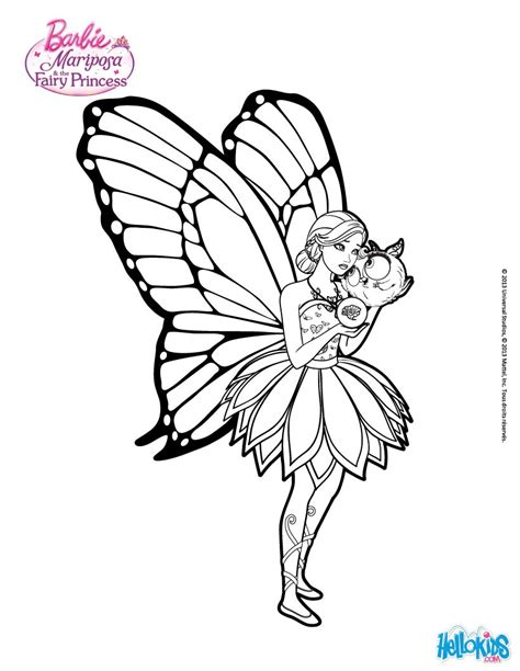 barbie butterfly coloring pages mariposa feels alone coloring pages hellokids com