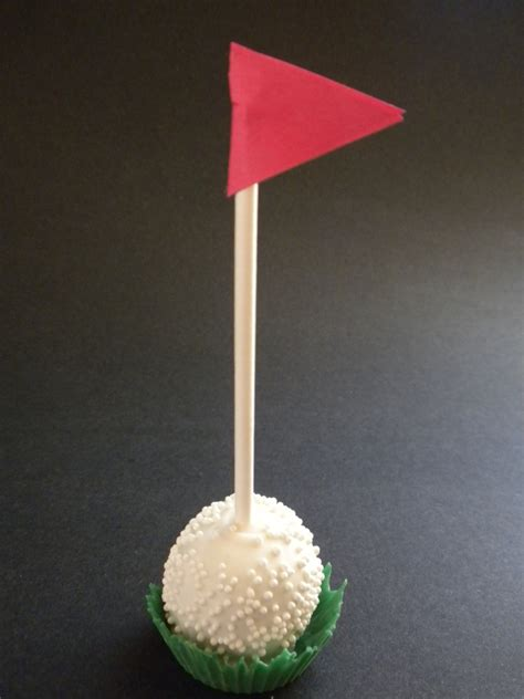 Origami Golf Club - golf cake pop cakecentral