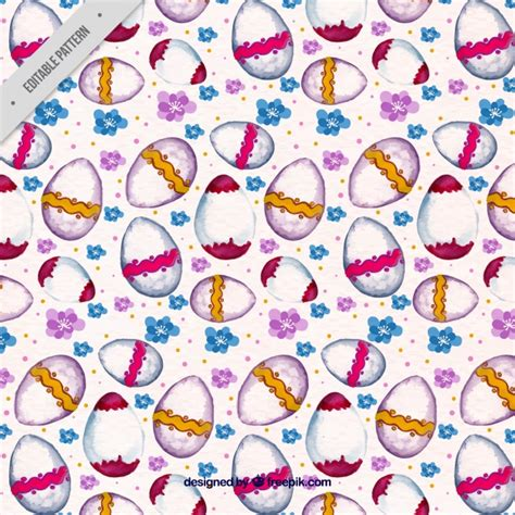 watercolor pattern vector free watercolor pattern with easter eggs vector free download