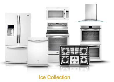 white ice kitchen appliances whirlpool white ice collection sleek alternative to