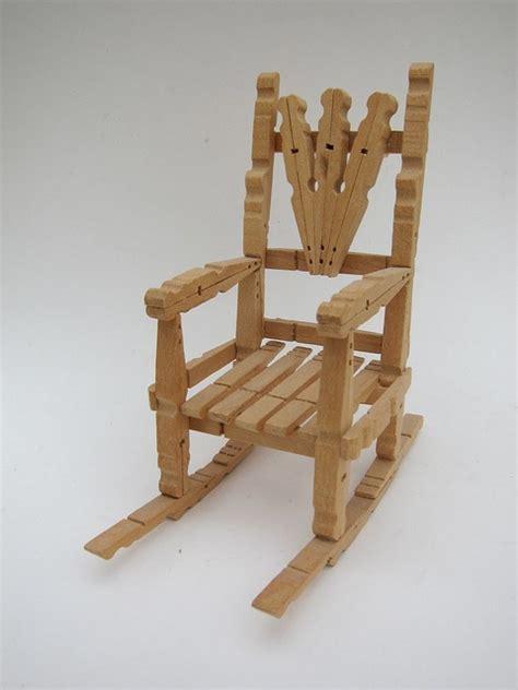 clothespin chair doll furniture diy clothes pins diy