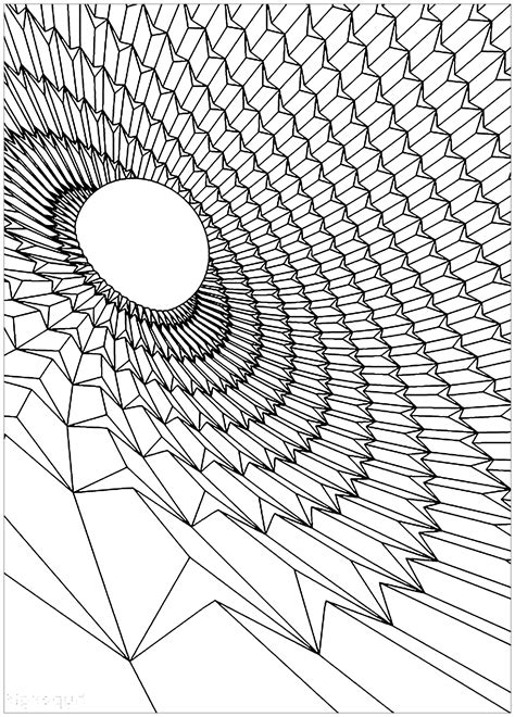 Black hole - Psychedelic Adult Coloring Pages