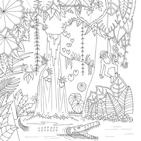 jungle coloring pages for adults 357 best colorir paisagens cestres images on pinterest