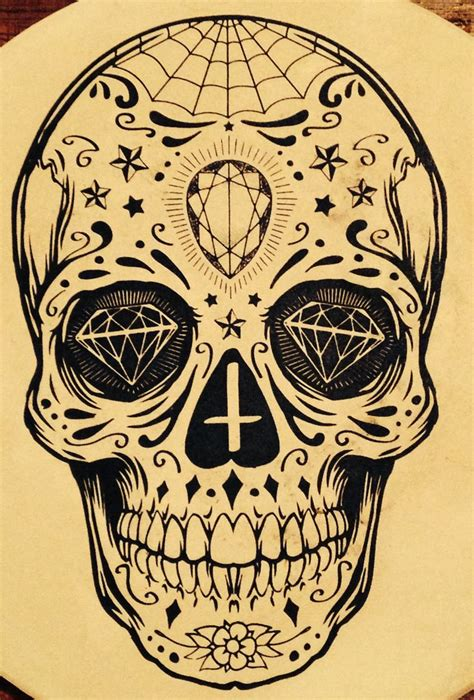 sugar skull tattoo diamond eyes meaning sugar skull tattoo tattoo pinterest tattoo sun