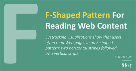 f pattern web reading f shaped pattern for reading web content original