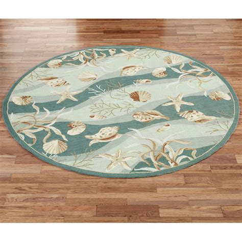 Shell Rugs by Seashells Hooked Area Rugs