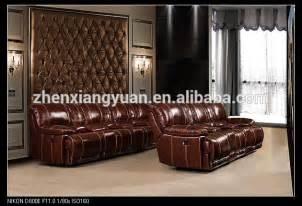 meubles de salon moderne apparence de luxe en cuir italien