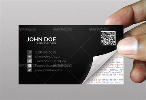 Software Developer Business Card Template by 36 Developer Business Card Templates Psd Designs