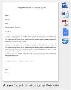 free promotional email templates sle promotion letter 15 free sles exles
