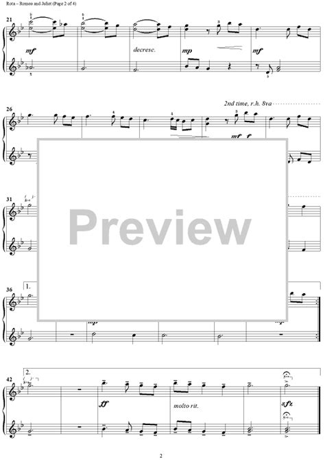 love theme romeo and juliet midi romeo and juliet love theme sheet music for piano and