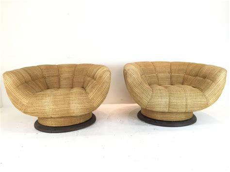 Rare And Monumental Swivel Tub Chairs By Adrian Pearsall Swivel Tub Chairs For Sale