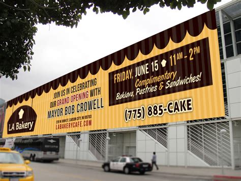 design banner bakery la bakery billboard design no mind design