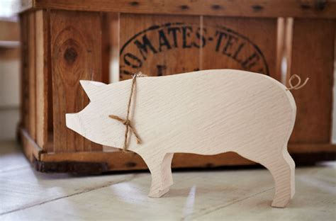 wood pig modern home decor by carol ridler