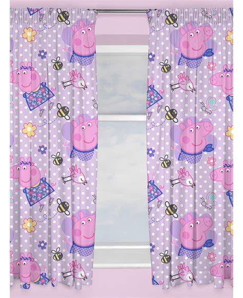peppa pig curtains peppa pig happy curtains bedroom