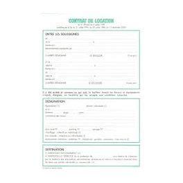 feuille de bail contrat de location non meuble 45e la