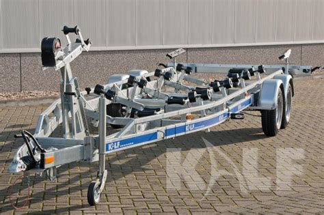boottrailer 9 meter motorboot trailer kalf s 3500 74 botentrailer nl