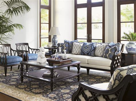 tommy bahama living room royal kahala tropic cocktail table lexington home brands