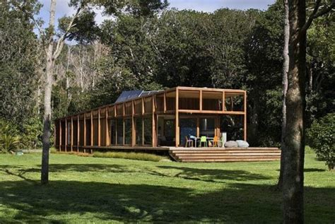 eco house designs nz new zealand island home built on stilts to avoid flooding inhabitat green design
